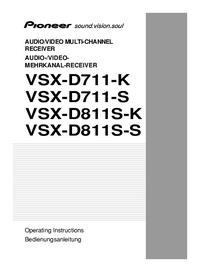 Руководство пользователя Pioneer VSX-D711-K