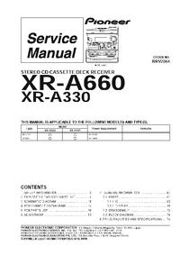 Руководство по техническому обслуживанию Pioneer XR-A660