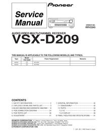 Serviceanleitung Pioneer VSX-D209