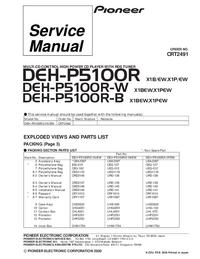 Parte de lista Pioneer DEH-P5100R-W