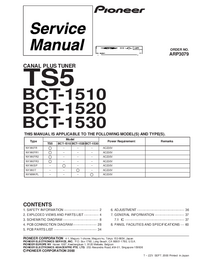 Service Manual Pioneer BCT-1520