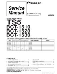 Service Manual Pioneer BCT-1510