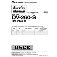 Service Manual Pioneer DV-263-K