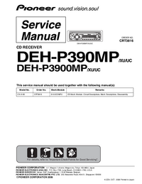 Manual de servicio Pioneer DEH-P3900MP