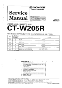 Service Manual Pioneer CT-W205R