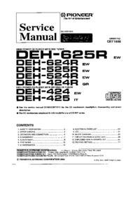 Serviceanleitung Pioneer DEH-424