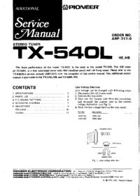 Serviceanleitung Pioneer TX-540L