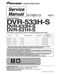 Serviceanleitung Pioneer DVR-633H-S