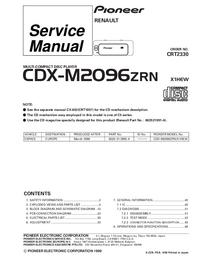 manuel de réparation Pioneer CDX-M2096