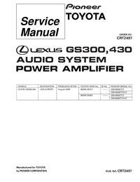 Service Manual Pioneer GM-8606ZT-91/E