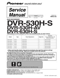 Manuale di servizio Pioneer DVR-530H-S