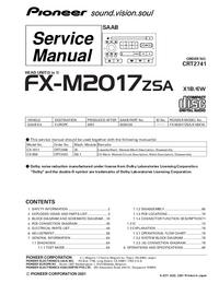Service Manual Pioneer FX-M2017ZSA
