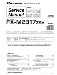 Руководство по техническому обслуживанию Pioneer FX-M2317ZSA