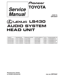 Service Manual Pioneer FX-MG8506ZT/UC