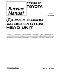 Service Manual Pioneer FX-MG8217ZT/UC