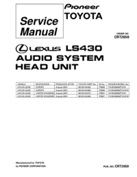 Service Manual Pioneer FX-MG8806ZT-91/EW