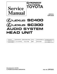 Manual de serviço Pioneer KEX-M8886ZT/UC