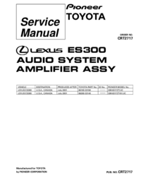 Service Manual Pioneer GM-8317ZT/UC