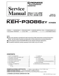Service Manual Pioneer KEH-P3086ZY X1INES