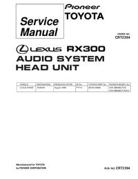 Service Manual Pioneer KEX-M9296ZT/ES