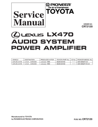 Service Manual Pioneer GM-8086ZT/UC
