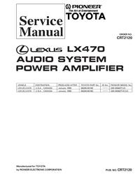 Manual de serviço Pioneer GM-8086ZT-91/UC