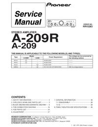 Manuale di servizio Pioneer A-209