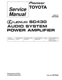 Manuale di servizio Pioneer GM-8117ZT/E