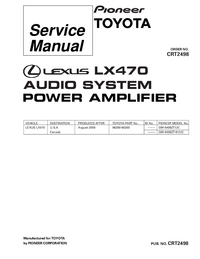 Manual de servicio Pioneer GM-8406ZT/UC