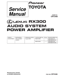 Service Manual Pioneer GM-8706ZT/UC