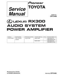 Manual de serviço Pioneer GM-8706ZT-91/UC