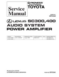 Service Manual Pioneer GM-8886ZT/UC,