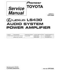 Руководство по техническому обслуживанию Pioneer GM-9006ZT/E