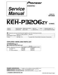 Manual de servicio Pioneer KEH-P3206ZY
