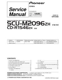 Servicehandboek Pioneer CD-R1546ZH