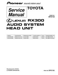 Servicehandboek Pioneer KEX-M8017ZT/ES