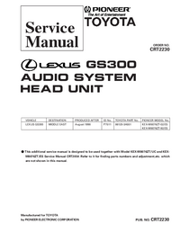 Manual de servicio Pioneer KEX-M8076ZT-92/ES