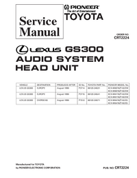 manuel de réparation Pioneer KEX-M8476ZT-92/ES