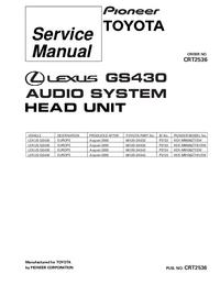 Servicehandboek Pioneer KEX-M9006ZT/EW
