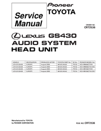 Service Manual Pioneer KEX-M9006ZT/EW