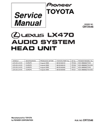 Service Manual Pioneer KEX-M8906ZT/EW