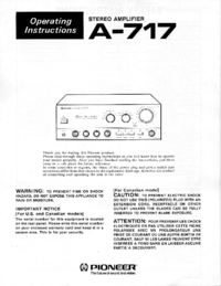 Manual del usuario Pioneer A-717