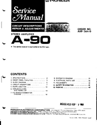 Service Manual Pioneer A-90