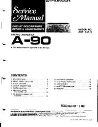 Manuale di servizio Pioneer A-90