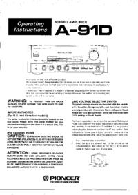 Instrukcja obsługi Pioneer A-91D