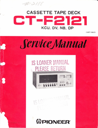 Service Manual Pioneer CT-F2121