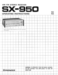 User Manual Pioneer SX-950
