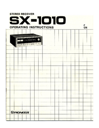 Manual del usuario Pioneer SX-1010