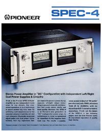 Gegevensblad Pioneer SPEC-4