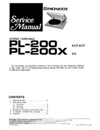 Manual de servicio Pioneer PL-200X